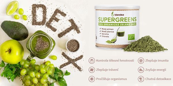 Blendea Supergreens - Úspěšná detoxikace organismu