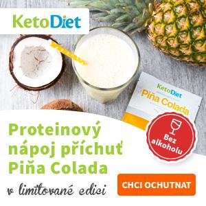 KetoDiet - Proteinový nápoj s příchutí Piňa Colady