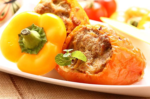 Dělená strava recept - Plněné papriky