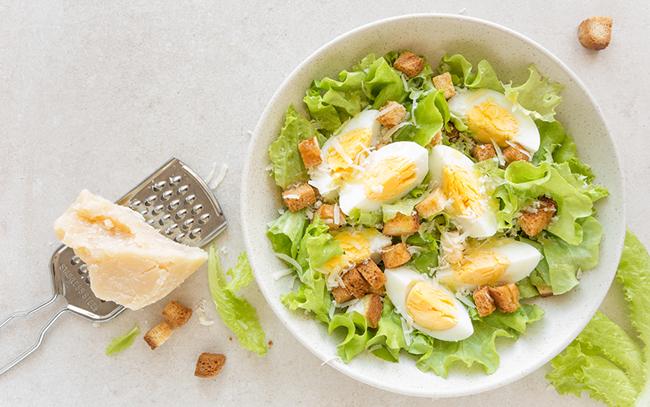 Ukázky receptů na vajíčkový salát